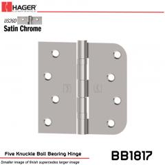 Hager 1817 US26D Full Mortise Hinge Stock No 070580