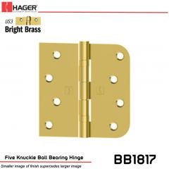 Hager 1817 US3 Full Mortise Hinge Stock No 070604