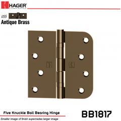 Hager 1817 US5 Full Mortise Hinge Stock No 070534