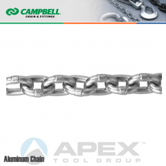 Campbell Chain #T0635311 5/16 in. Aluminum Chain - Bright - 850 lb SWL/Cut to Order By The Foot
