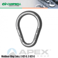 Campbell #3625635 1 in. Weldless Sling Links - 10800 lb WLL - Carbon Steel - Galvanized