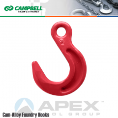 Campbell #5662015 1-1/4 in. Cam Alloy Foundry Eye Hook - Grade 80 - Painted Red