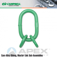Campbell #5682215 9/32 in. Cam Alloy Oblong Master Link Sub-Assembly - Grade 100 - Painted Green