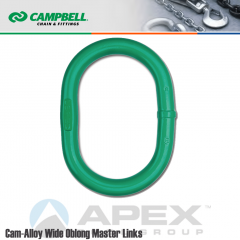 Campbell #5683315VW 7/8 in. Cam Alloy Wide Oblong Master Link - Grade 100 - Painted Green