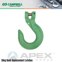 Campbell #5746415PL 9/32 in. - 5/16 in. Quik Alloy Clevis Sling Hook - Grade 100 - Painted Green