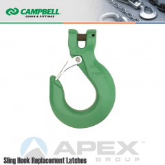 Campbell #5746495PL 9/32 in. - 5/16 in. Quik Alloy Clevis Sling Hook w/Latch - Grade 100 - Painted Green