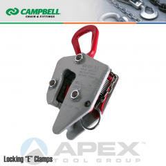 Campbell #6420705 Locking E Clamps - 1/2 to 2-1/2 in. Grip Range - 8 Metric Ton WLL