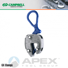 Campbell #6423000 GX Plate Clamp - 1/16 to 5/8 in. Grip Range - 1/2 Metric Ton WLL