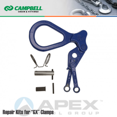 Campbell #6506060 Repair Shackle/Linkage Kit For 1/2 Ton GX Rubber Pad (Non-Marring) Clamps