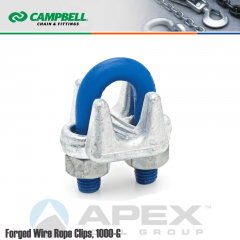 Campbell #6990234 1/8 in. Wire Rope Clips - Carbon Steel - Galvanized