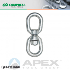 Campbell #T9630835 1/2 in. Drop Forged Eye & Eye Swivels - 3600 lb WLL - Steel - Galvanized
