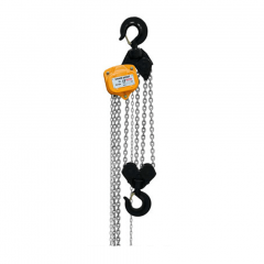 Bison CH100-10: 10 Ton Manual Chain Hoist 10 ft. Electro-Galvanized Chain
