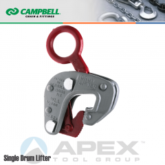 Campbell #6410101 Single Drum Lifter No. 52 - 1/2 Metric Ton WLL - 1-3/4 in. Inside Eye Diameter