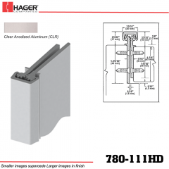 Hager 780-111HD CLR Concealed Leaf Hinge Stock No 153794