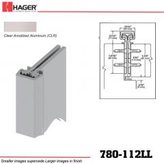 Hager 780-112LL CLR Concealed Leaf Hinge Stock No 195094