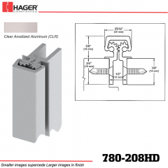 Hager 780-208HD CLR Concealed Leaf Hinge Stock No 195193