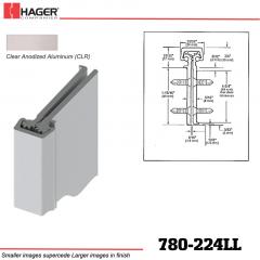 Hager 780-224LL CLR Concealed Leaf Hinge Stock No 195224