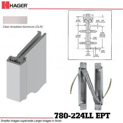 Hager 780-224LL CLR EPT Concealed Leaf Hinge Stock No 195834