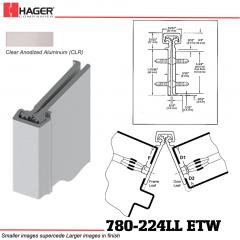 Hager 780-224LL CLR ETW Concealed  Leaf Hinge Stock No 082926