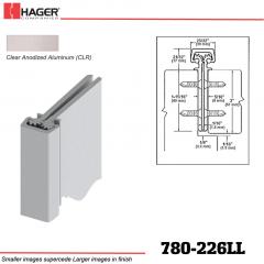 Hager 780-226LL CLR Concealed Leaf Hinge Stock No 195236