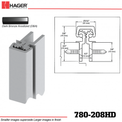 Hager 780-208HD DBA Concealed Leaf Hinge Stock No 195196