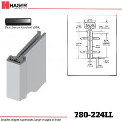 Hager 780-224LL DBA Concealed Leaf Hinge Stock No 195225