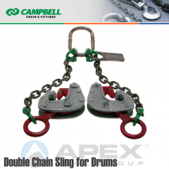 Campbell #6410301 Double Alloy Chain And Lifting Clamp Sling for Drums 1 Metric Ton WLL