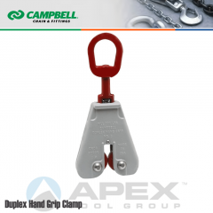 Campbell #6421802 Duplex Hand Grip Clamps - 0 to 5/16 in. Grip Range - With Eye Nut Handle