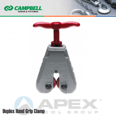 Campbell #6421806 Duplex Hand Grip Clamps - 0 to 5/16 in. Grip Range - With 18 in. Handle