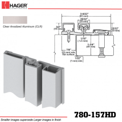 Hager 780-157HD BLA Full Surface Leaf Hinge Stock No 189834