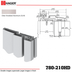 Hager 780-210HD CLR Full Surface Leaf Hinge Stock No 025722