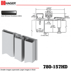 Hager 780-157HD DBA Full Surface Leaf Hinge Stock No 010547