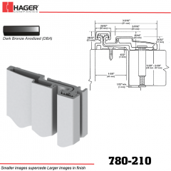 Hager 780-210 DBA Full Surface Leaf Hinge Stock No 084651