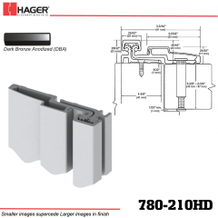 Hager 780-210HD DBA Full Surface Leaf Hinge Stock No 195200