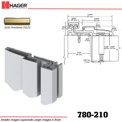 Hager 780-210 GLD Full Surface Leaf Hinge Stock No 122274