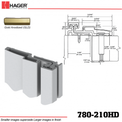 Hager 780-210HD GLD Full Surface Leaf Hinge Stock No 065972