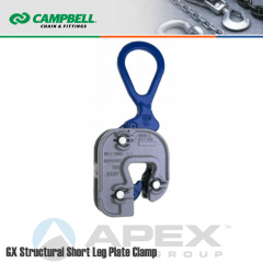 Campbell #6423110 Short Leg Structural GX Clamp - 1/16 to 1 in. Grip Range - 3 Metric Ton WLL