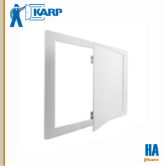 Karp Model HA 28-3/4 in. x 13-3/4 in. Ceiling and Wall Access Door Textured White Plastic Finish