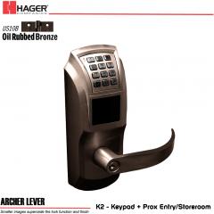 Hager 34K2 2-3/4 US10B ARC SCC KD ASA Electronic Lock