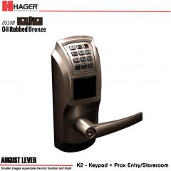 Hager 34K2 2-3/4 US10B AUG SCC KD ASA Electronic Lock