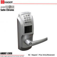 Hager 34K2 2-3/4 US26D AUG SCC KD ASA Electronic Lock
