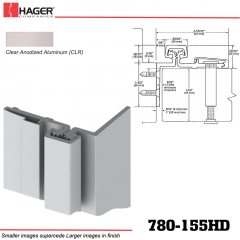Hager 780-155HD CLR Half Surface Leaf Hinge Stock No 063862