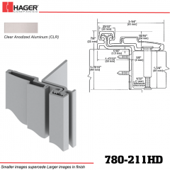 Hager 780-211HD CLR Half Surface Leaf Hinge Stock No 195208
