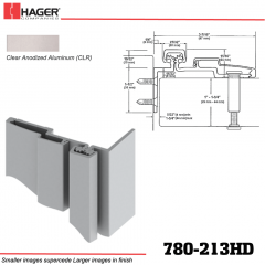 Hager 780-213HD CLR Half Surface Leaf Hinge Stock No 195219