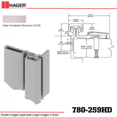 Hager 780-259HD CLR Half Surface Leaf Hinge Stock No 195278