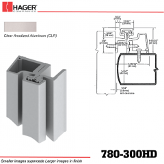 Hager 780-300HD CLR Half Surface Leaf Hinge Stock No 047821