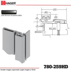 Hager 780-259HD DBA Half Surface Leaf Hinge Stock No 195280