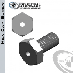 Stainless Hex Head Vented Cap Screw: 3/4-10 x 1-1/2