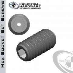 Stainless Headless Vented Socket Set Screw: 1/4-20 x 1-1/2