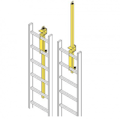 JL Industries Safety Post Ladder Mount LP-4 Powder Coat Paint Safety Yellow